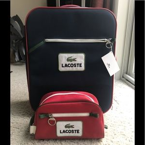 Brand New Lacoste Suitcase & Cosmetic Bag Travel